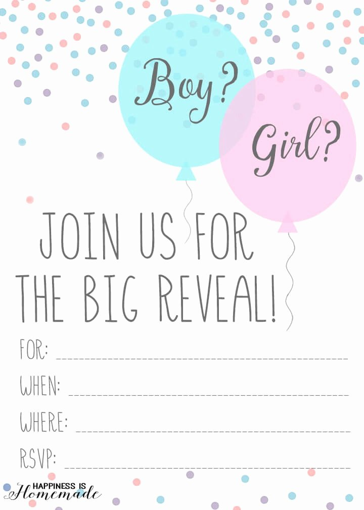 Reveal Party Invitation Ideas Lovely Baby Gender Reveal Party Ideas Happiness is Homemade