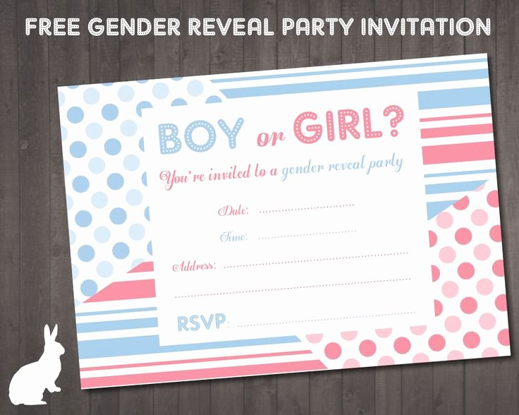 Reveal Party Invitation Ideas Lovely Free Gender Reveal Party Invitation