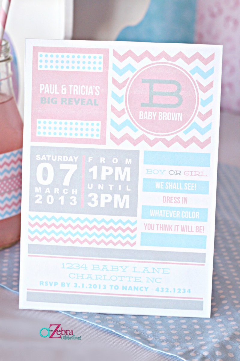 Reveal Party Invitation Ideas Luxury A Gender Reveal Party Using Chevron Stripes and Polka