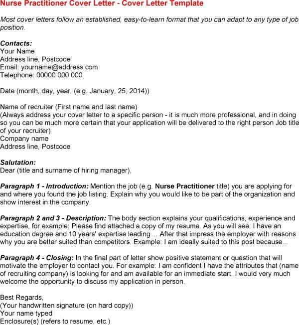 Rn Cover Letters Examples New 12 Nurse Practitioner Cover Letter