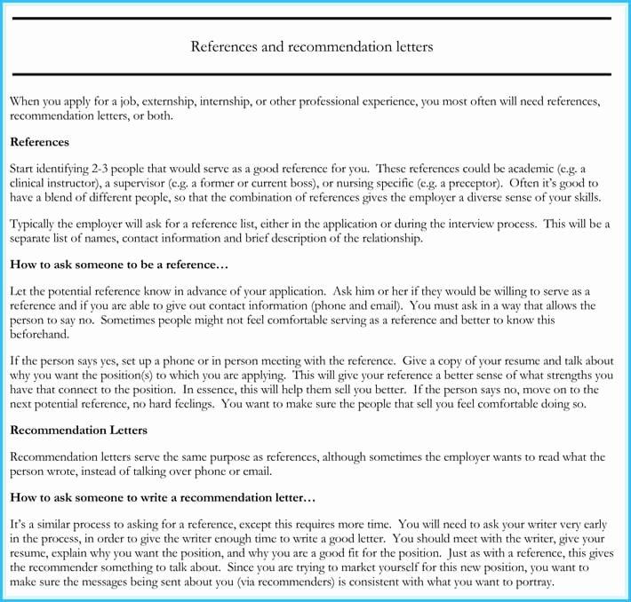 Rn Letter Of Recommendation Inspirational Nursing Reference Re Mendation Letters 9 Samples