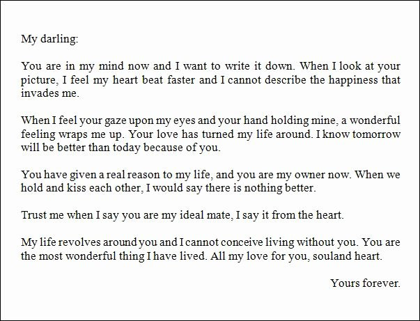 Romantic Love Letter for Him Unique Best Love Letter for A Boyfriend thoughts