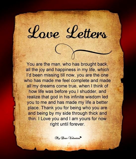 Romantic Love Letter for Him Unique Love Letters for Him Sweets
