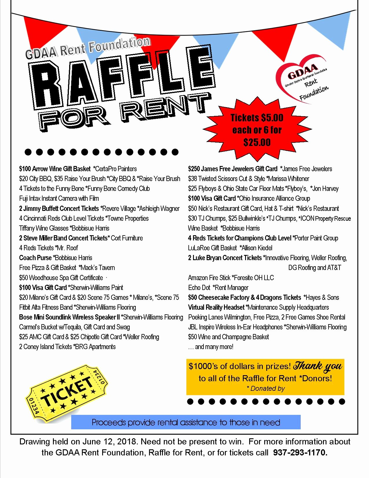 Room for Rent Flyers Beautiful Raffle for Rent Greater Dayton Apartment association
