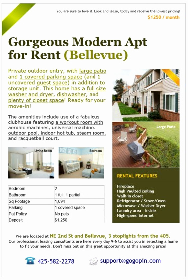 Room for Rent Flyers Inspirational Create Free Real Estate Ads On Gogopin