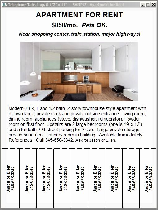 Room for Rent Flyers Luxury 28 Of Tear F Template for Rent Sign