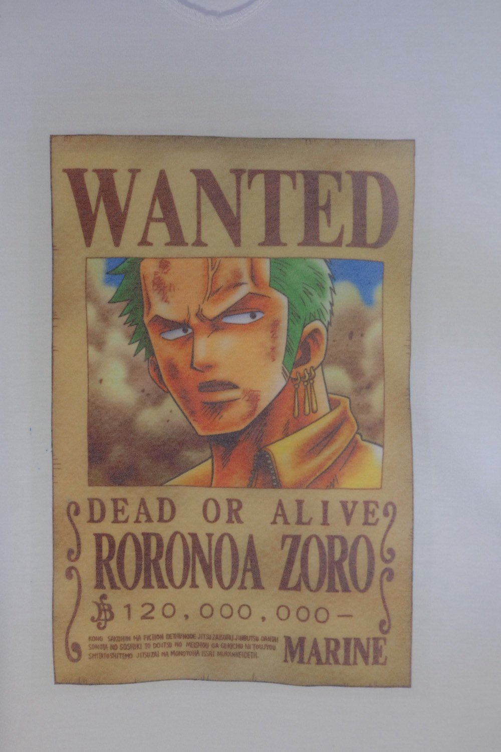 Roronoa Zoro Wanted Poster Awesome Poster Wanted Dead or Alive Roronoa Zoro T Shirt by