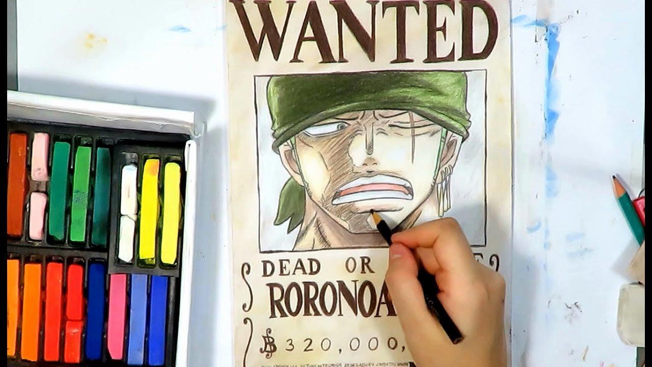 Roronoa Zoro Wanted Poster Beautiful E Piece Roronoa Zoro Speed Drawing Wanted Poster