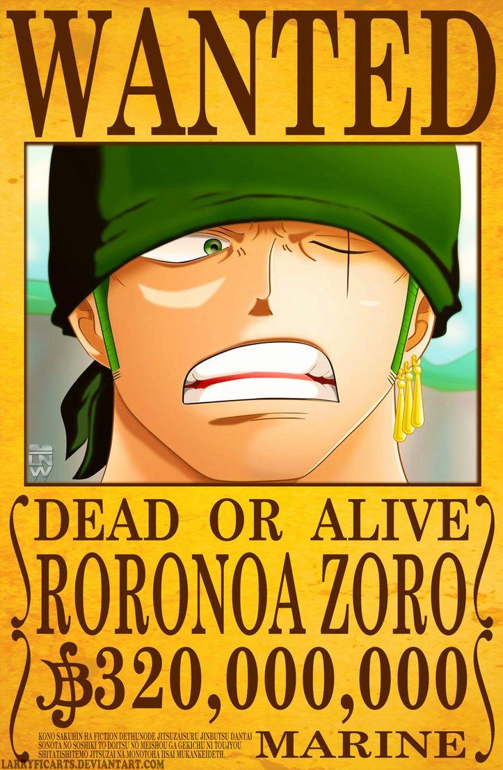 Roronoa Zoro Wanted Poster Beautiful Roronoa Zoro Wanted Poster by Larryficarts On Deviantart