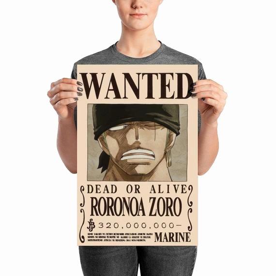Roronoa Zoro Wanted Poster Beautiful Roronoa Zoro Wanted Poster