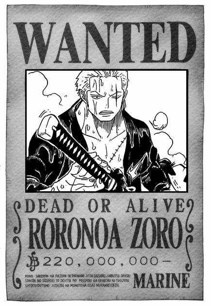 Roronoa Zoro Wanted Poster Best Of Roronoa Zoro Wanted Poster by Master Cog On Deviantart