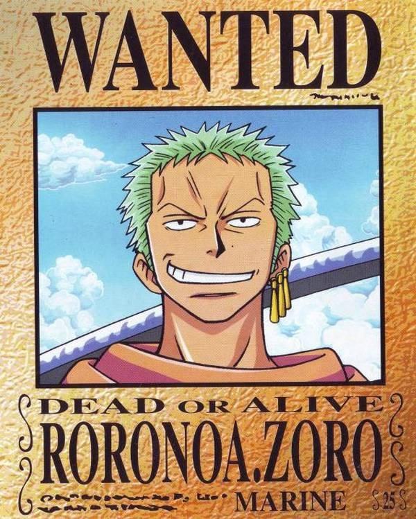 Roronoa Zoro Wanted Poster Elegant Roronoa Zoro One Piece Image Zerochan Anime