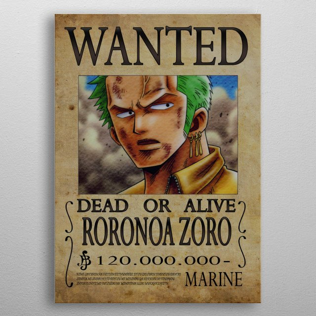 Roronoa Zoro Wanted Poster Elegant Wanted Poster Of Roronoa Zora by Sylvain Massot