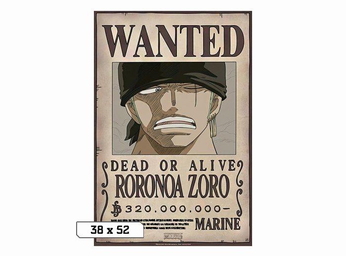 Roronoa Zoro Wanted Poster Fresh Wanted Zoro 320m Poster 38x52 E Piece