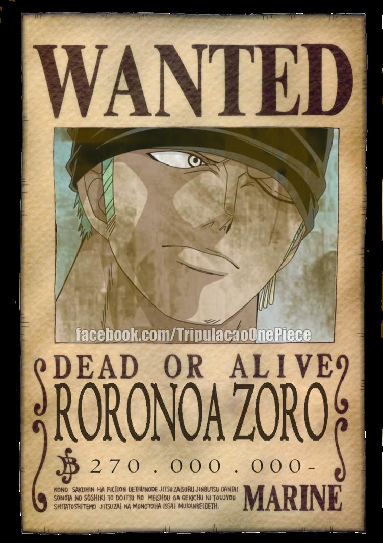 e Piece Roronoa Zoro Bounty Pos TS