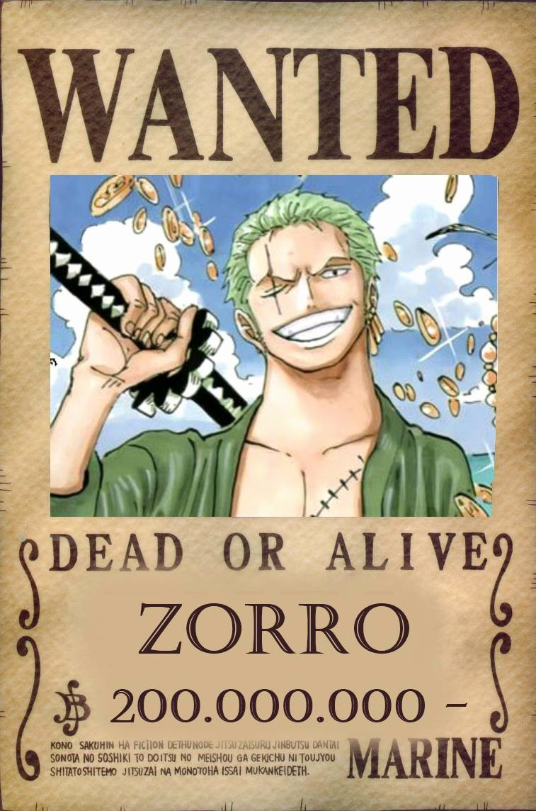 Roronoa Zoro Wanted Poster Inspirational Wanted Poster E Piece Wallpapers Wallpaper Cave