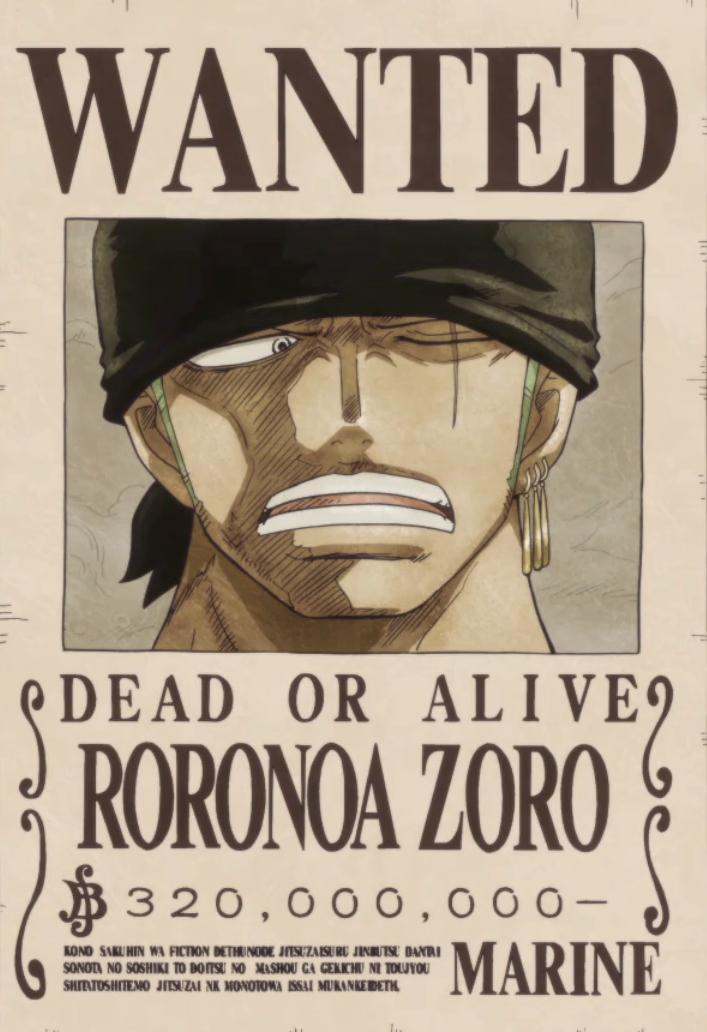 Roronoa Zoro Wanted Poster Lovely Roronoa Zoro Gallery E Piece Wiki