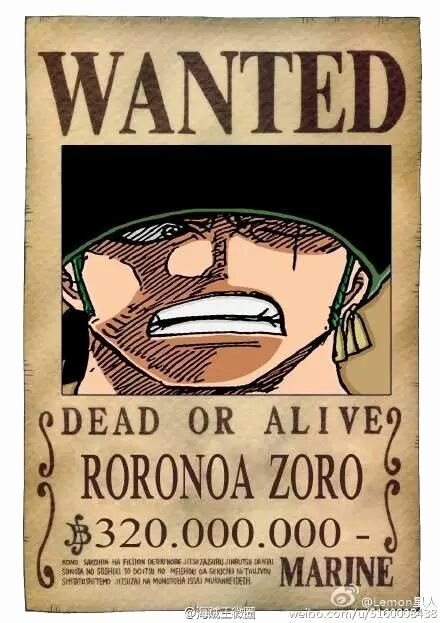 Roronoa Zoro Wanted Poster Luxury the New Straw Hat Pirates Wanted Posters