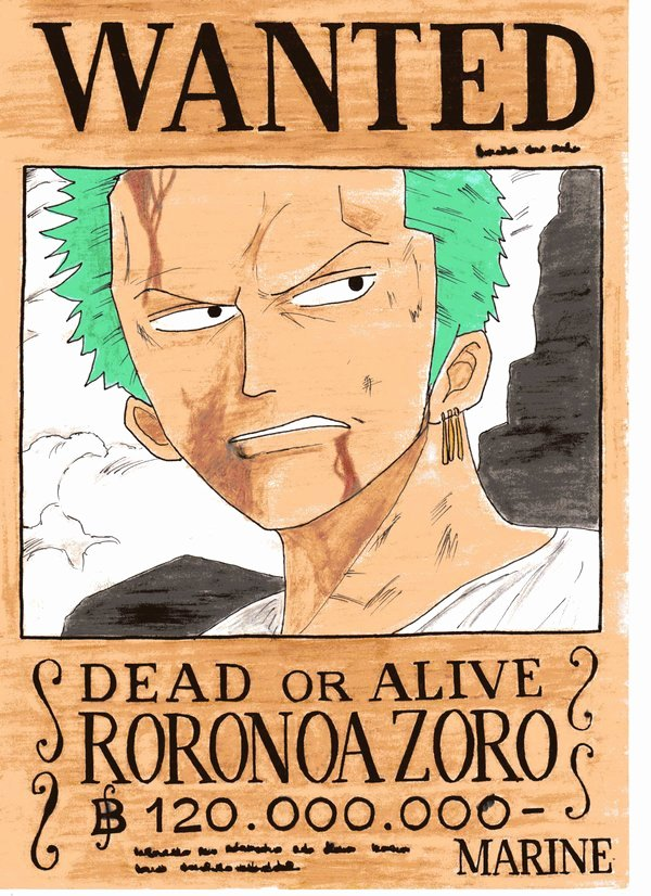 Roronoa Zoro Wanted Poster Unique Wanted Zoro by Yuki Neechan On Deviantart