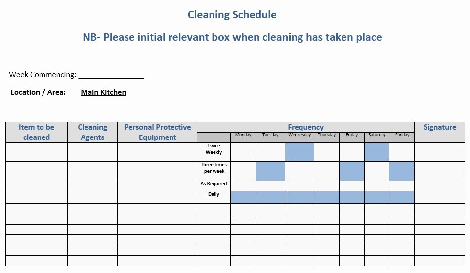 Rotating Chore Chart Template Elegant 13 Free Sample Daily Chore List Templates Printable Samples