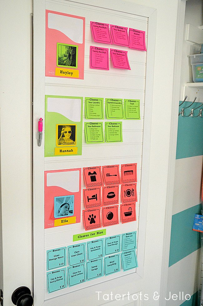 Rotating Chore Chart Template Elegant Chore Charts for Kids the Idea Room