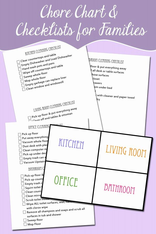 Rotating Chore Chart Template Elegant Free Rotating Chore Chart and Chore Checklist for Kids