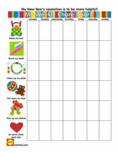 Rotating Chore Chart Template Unique 24 Free Chore Chart Examples Pdf Doc