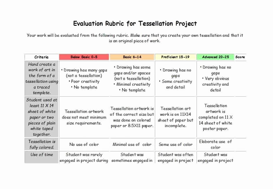 Rubric Template Microsoft Word Awesome 46 Editable Rubric Templates Word format Template Lab