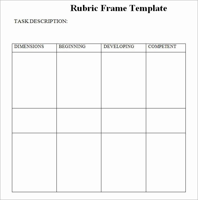 Rubric Template Microsoft Word Inspirational Blank Rubric Template Rubric Template