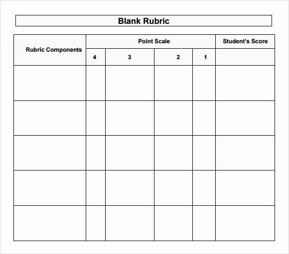 Rubric Template Microsoft Word Inspirational Sample Blank Rubric 9 Documents In Word Pdf