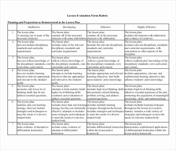 Rubric Template Microsoft Word Unique Rubric Template 47 Free Word Excel Pdf format