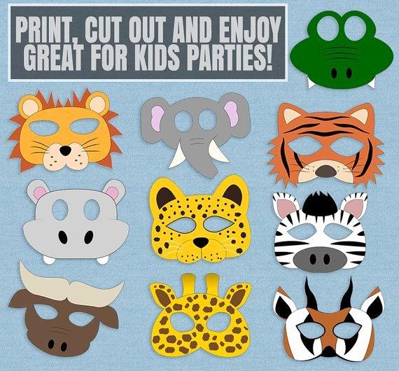 Safari Animal Cutouts Free Awesome 10 Safari Animal Mask Printables Kid S Safari Masks
