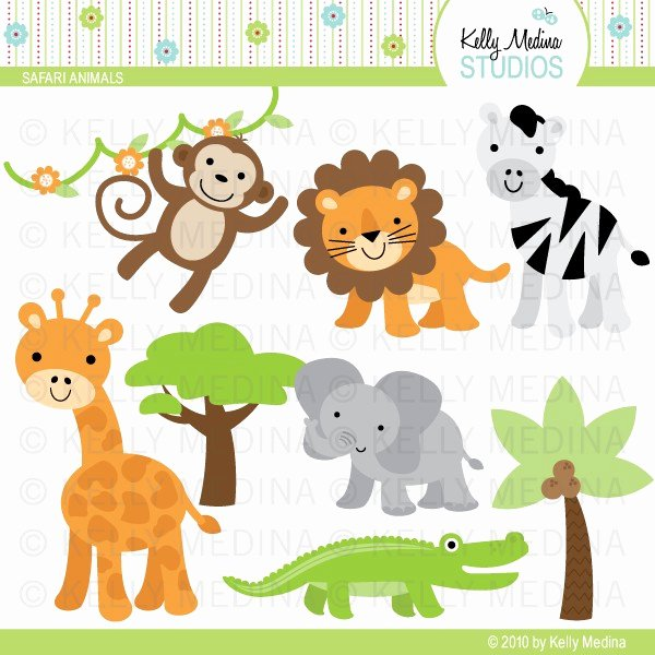 Safari Animal Cutouts Free Awesome Free Baby Safari Animals Clipart 20 Free Cliparts