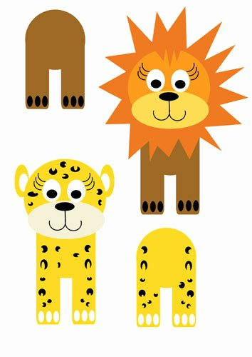 Safari Animal Cutouts Free Beautiful Cardboard Tube Jungle Critters My Kid Craft