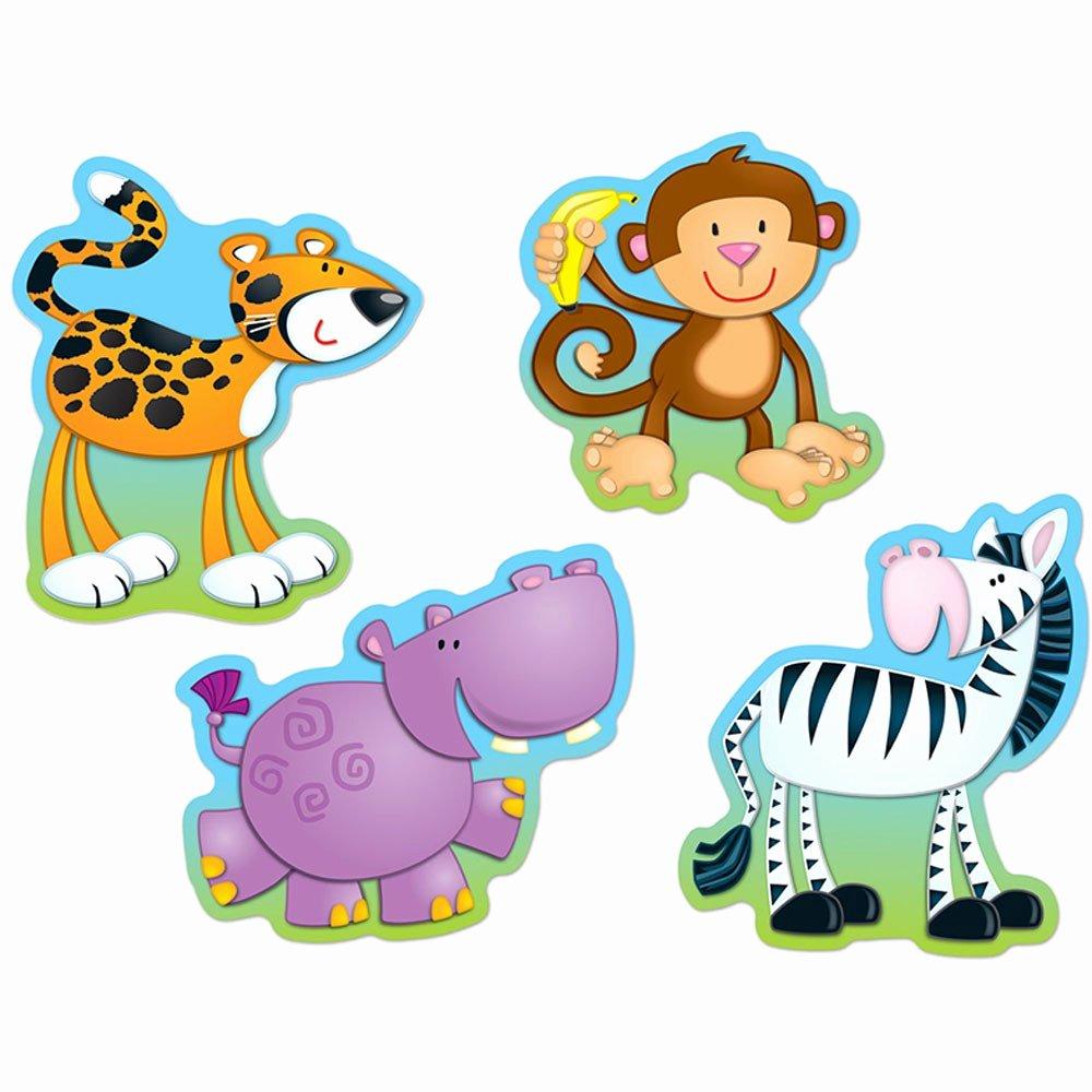 Safari Animal Cutouts Free Beautiful Jungle Animals Cut Outs Cd