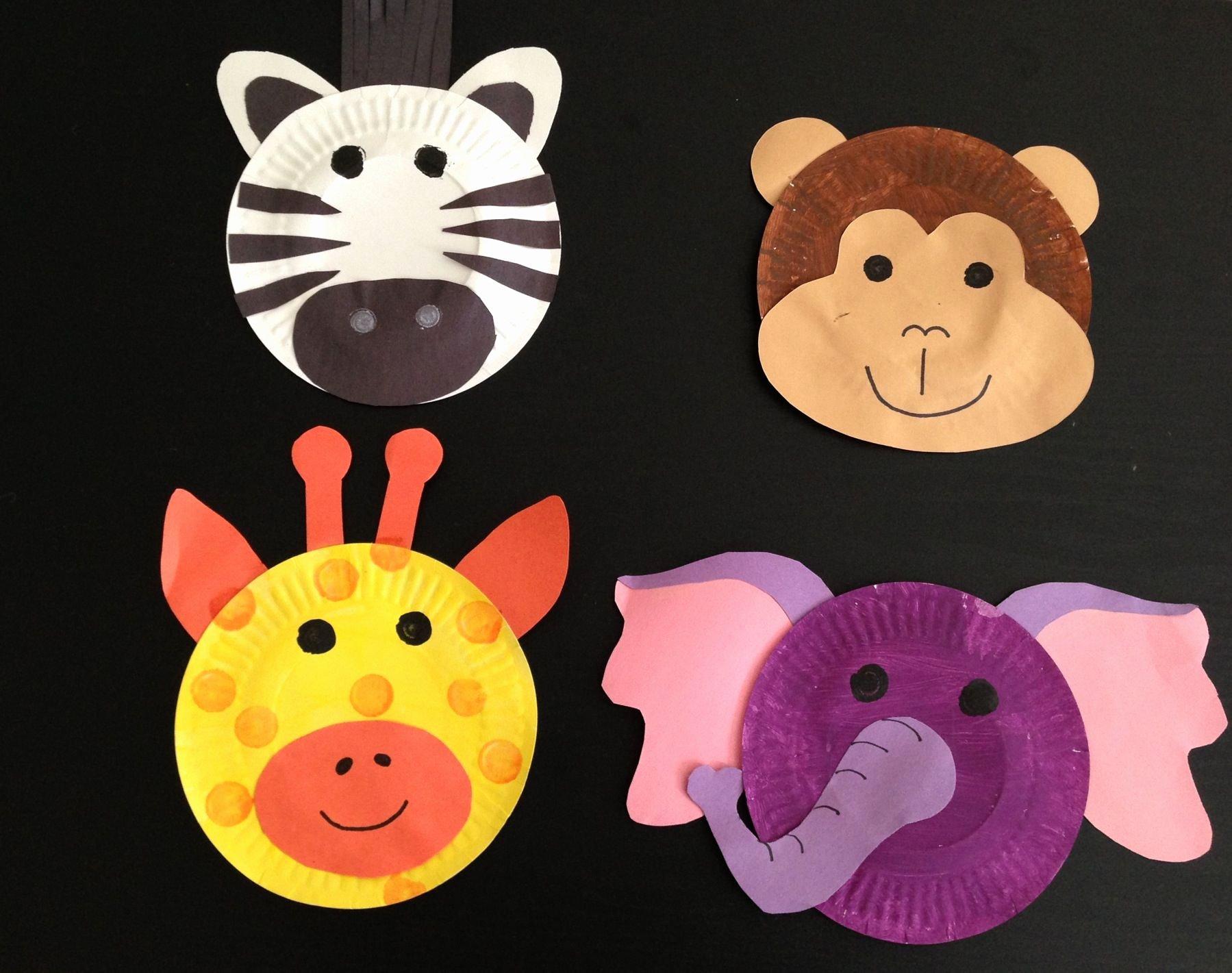 Safari Animal Cutouts Free Beautiful Safari theme Crafts Paint Plates Construction Paper
