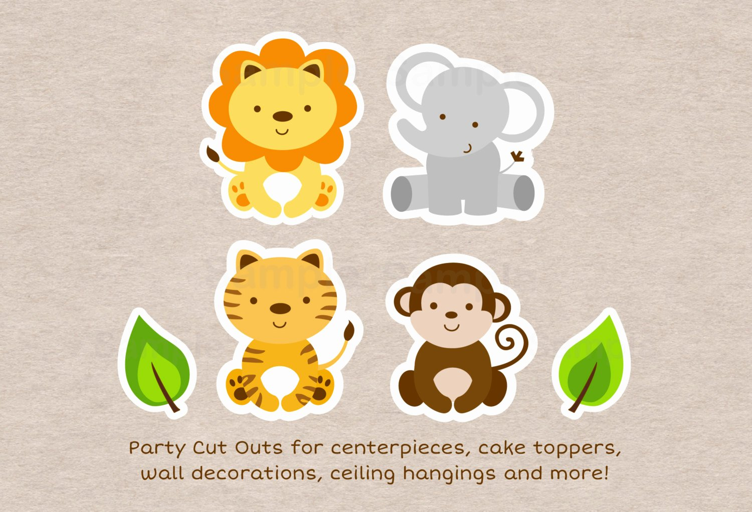 Safari Animal Cutouts Free Best Of Safari Animal Cut Outs Safari Baby Shower Jungle Animal
