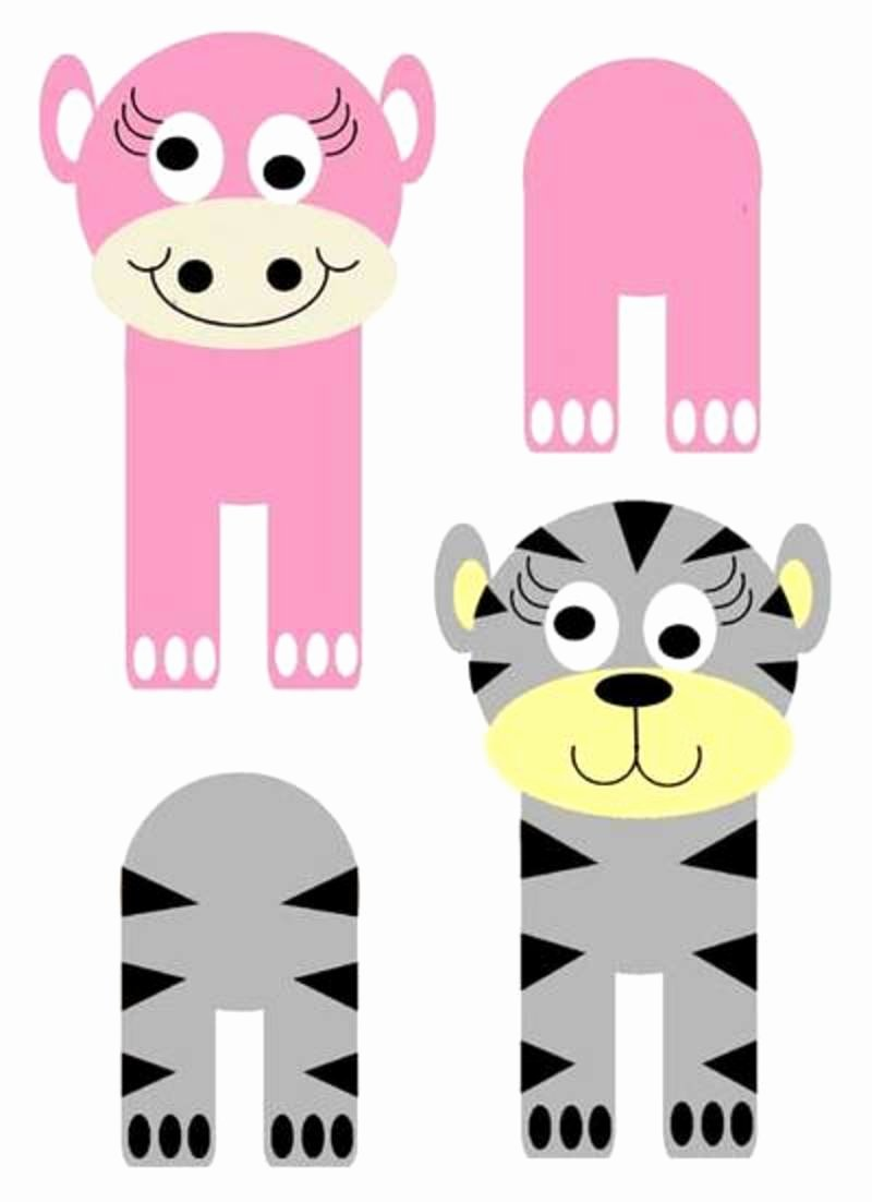 Safari Animal Cutouts Free Elegant forest Wild Animal Best Blog How to Make Wild Animal Crafts