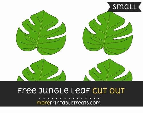 Safari Animal Cutouts Free Elegant Free Jungle Leaf Cut Out Small Size Printable