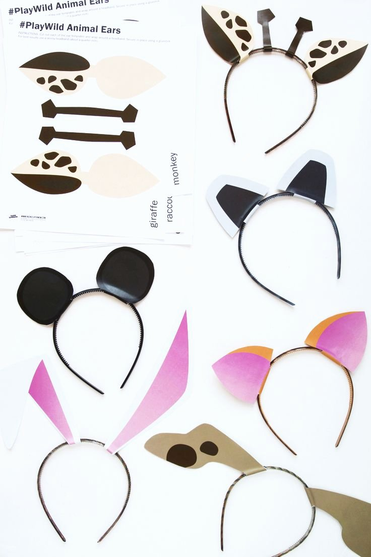 Safari Animal Cutouts Free Elegant Free Printable Zoo Animal Ears Template and Activity