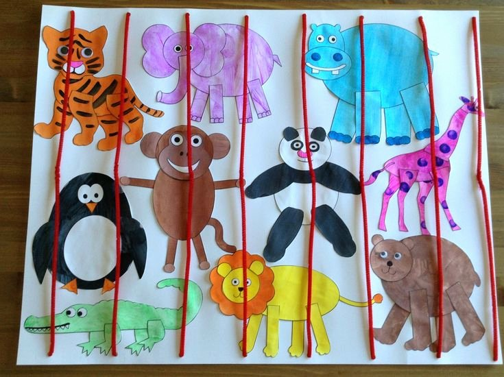 Safari Animal Cutouts Free Inspirational Zoo Craft Using Printables From Learncreatelove