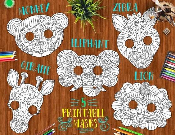 Safari Animal Cutouts Free Luxury Safari Animals Printable Diy Masks – Cute Lion Giraffe