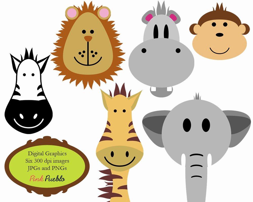 Safari Animal Cutouts Free New Animals Clip Art Clipart Zoo Jungle Safari Wild by Pinkpueblo
