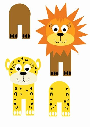 Safari Animal Cutouts Free New Cardboard Tube Jungle Critters My Kid Craft