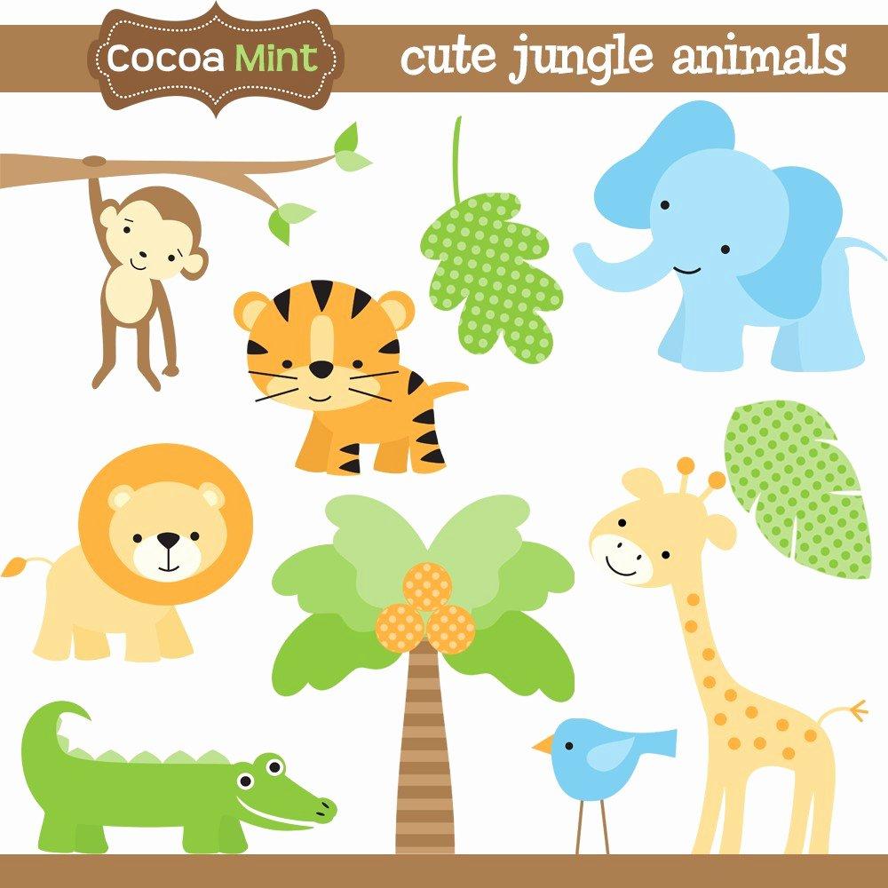 free baby safari animals clipart