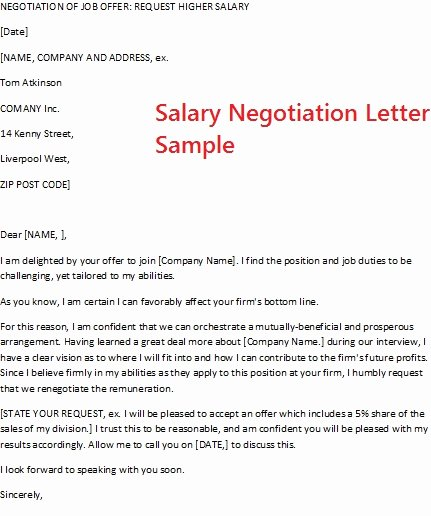 Salary Negotiation Letter to Employer Elegant November 2012
