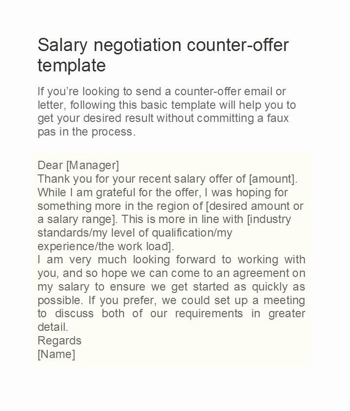 Salary Negotiation Letter to Employer Fresh 49 Best Salary Negotiation Letters Emails & Tips