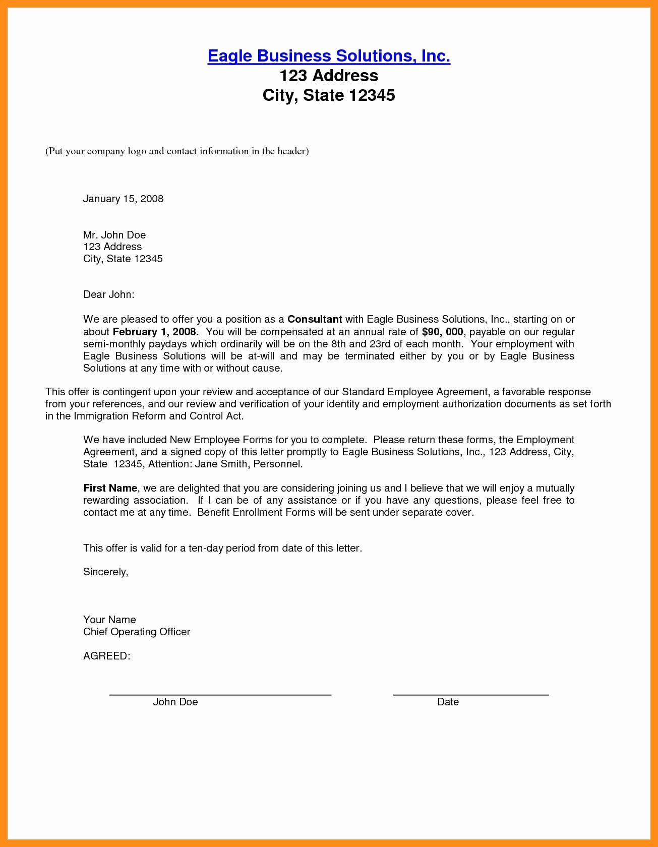 Salary Negotiation Letter to Employer Lovely 12 13 Counter Offer Letter Samples
