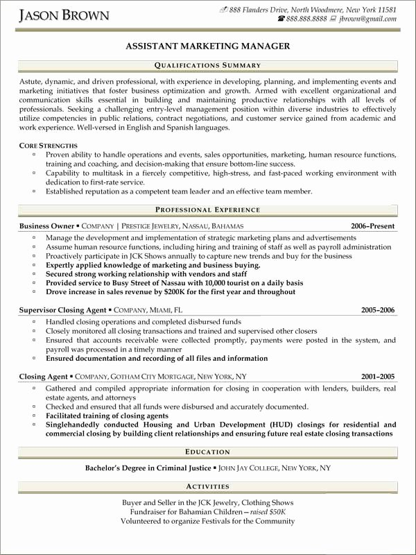 Sales and Marketing Resume Samples Beautiful Sales Resume Examples Resume Professional Writers
