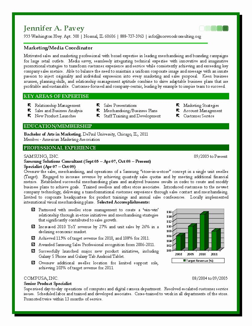 Sales and Marketing Resume Samples Best Of Sales